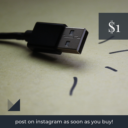 Digital Web Graphic | USB on Neutral Background | Photography