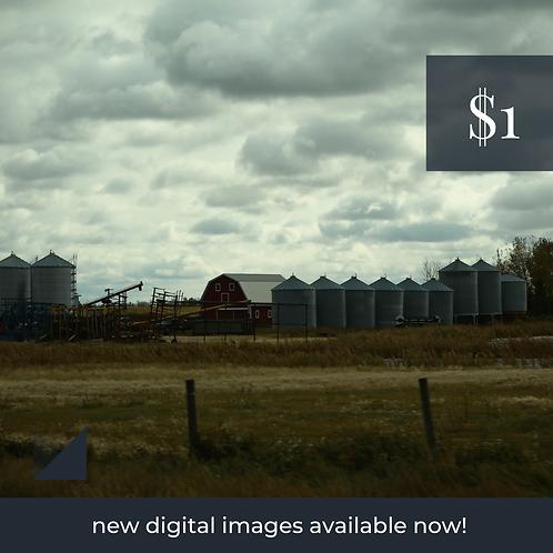 Digital Web Graphic   Prairie Scene and Farm Equipment   Photography