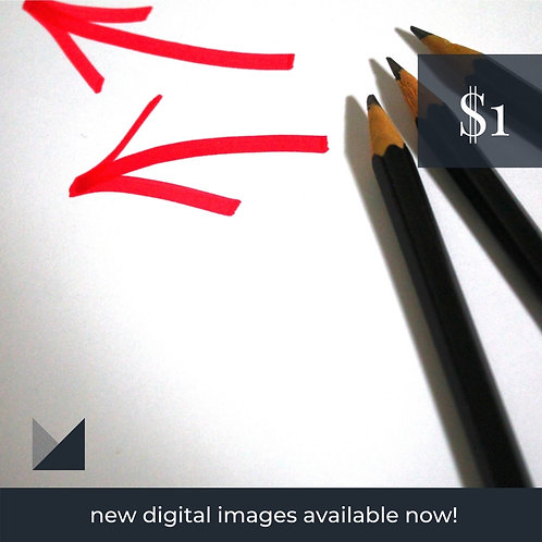 Digital Web Graphic | Pencil with Arrows (white background)  | Photography