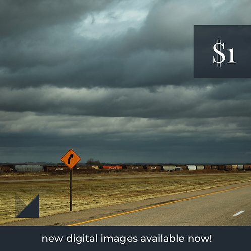 Digital Web Graphic | Prairie Train on Storm Background | Photography