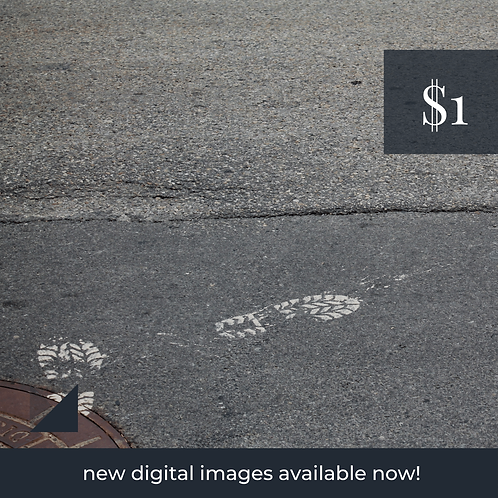 Digital Web Graphic   Construction Zone (Footprints)   Photography