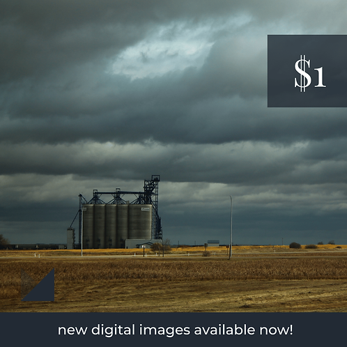 Digital Web Graphic | Prairie Industry on Storm Background | Photography