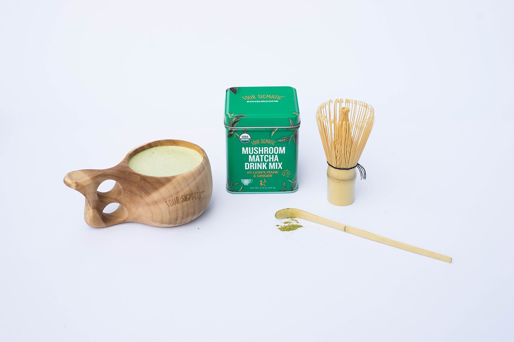 Matcha mushroom drink from Four Sigmatic