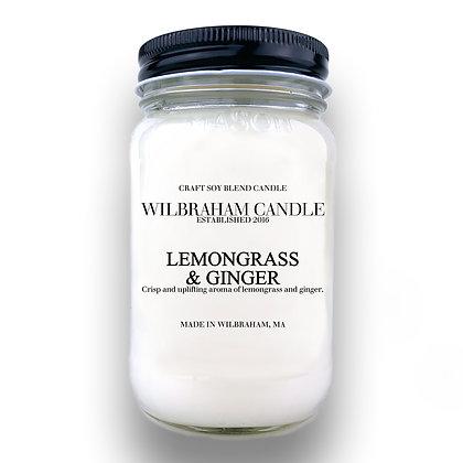 Jar Candle - Lemongrass & Ginger