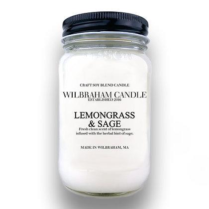 Jar Candle - Lemongrass & Sage