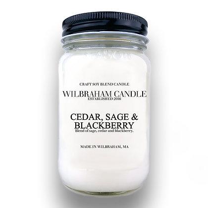 Jar Candle - Cedar, Sage & Blackberry