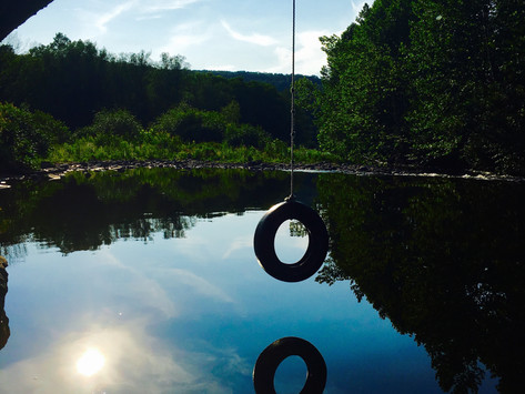 Tire Swing Over the River
