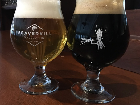 Beaverkill Beer Glasses from the Beaverkill Valley Inn
