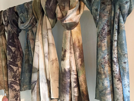 Eco Print Scarves by Artist Alexis Siroc Exclusively at Domesticities