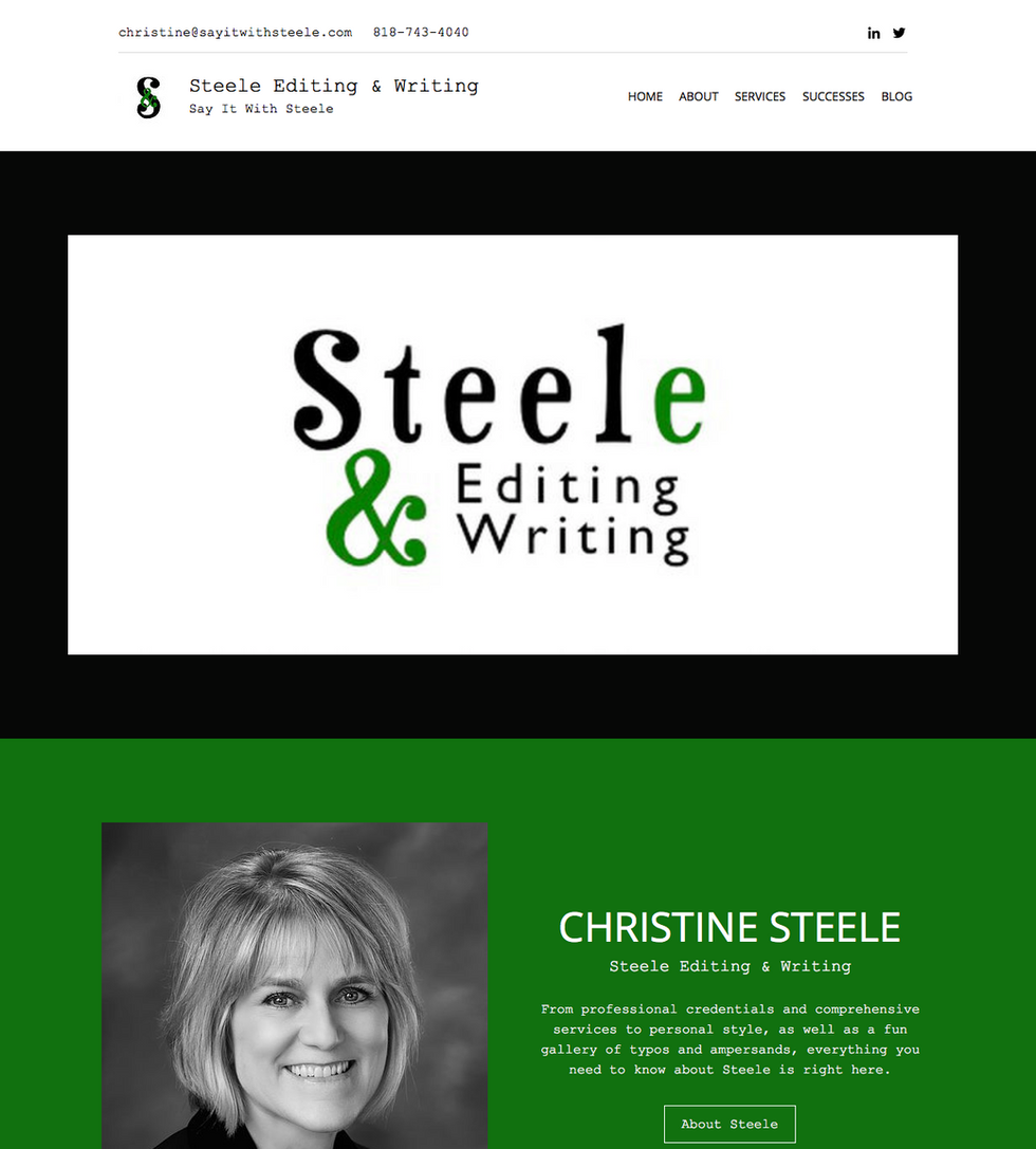 Steele Editing & Writing is LIVE!