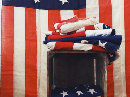 A Vintage American Flag for the History Buffs from State Park Vintage at the Red Rose Motel