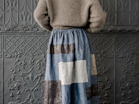 An Original MayerWasner Patchwork Skirt
