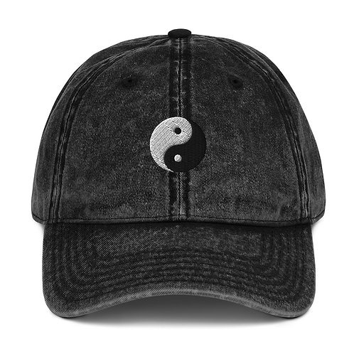 Yin Yang Vintage Cotton Twill Cap