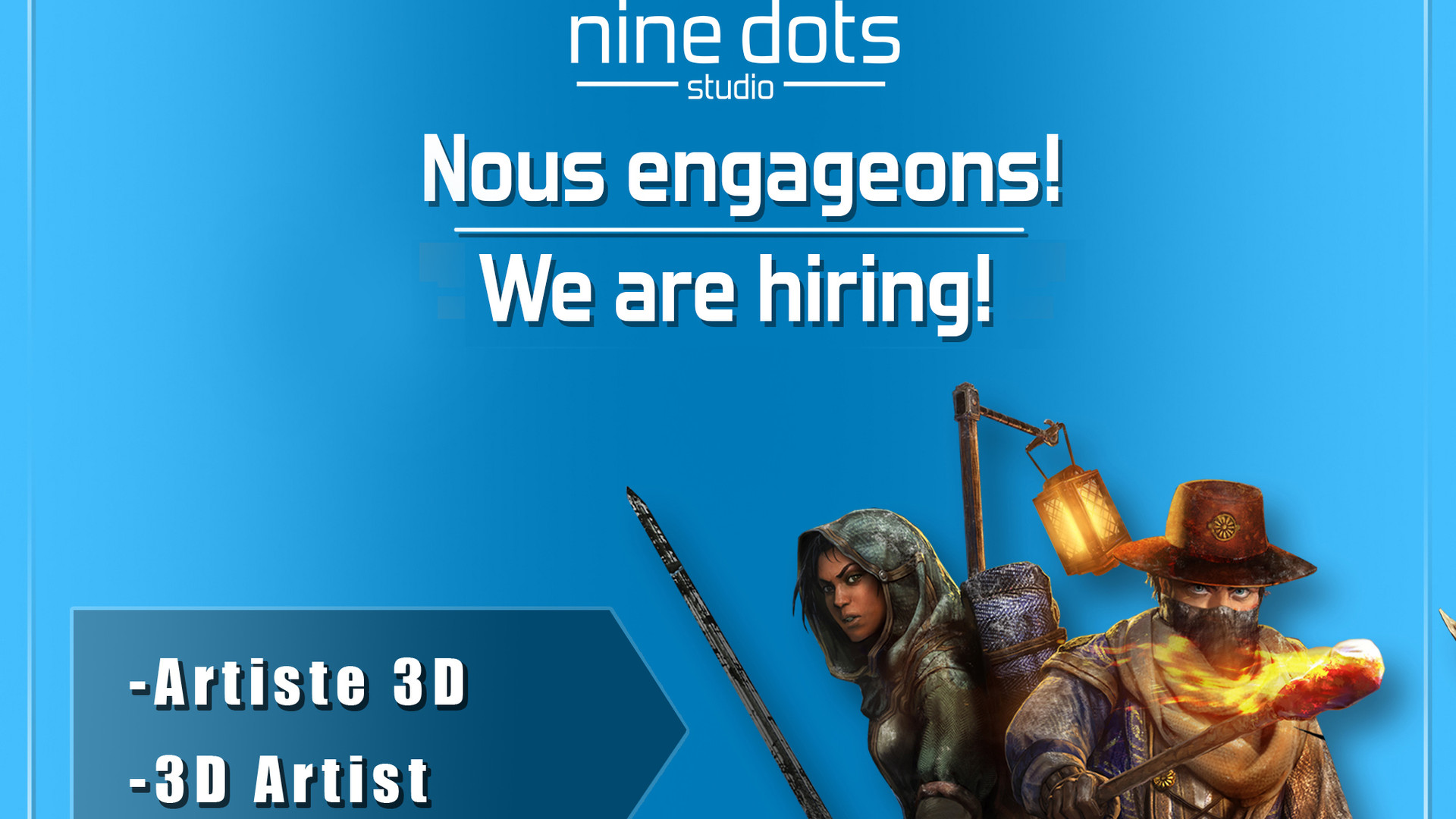 (Update: positions filled- Mise à jour: complet) We're hiring! Nous engageons!