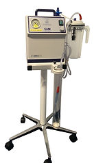 Medical Suction Unit on Bedside Trolley