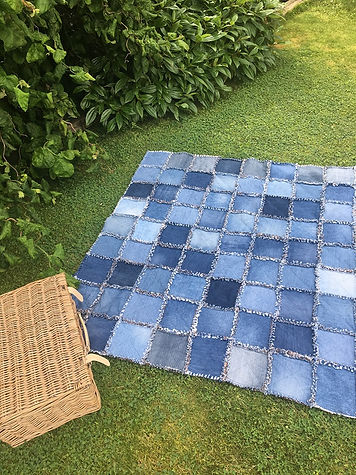 Up-cycled Denim Blanket