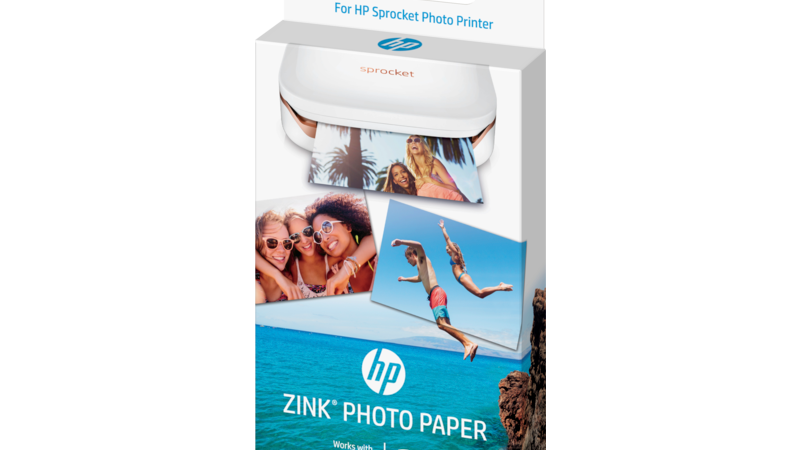 HP ZINK Sticky-backed Photo Paper-20 sht/2 x 3 in (1PF35A)