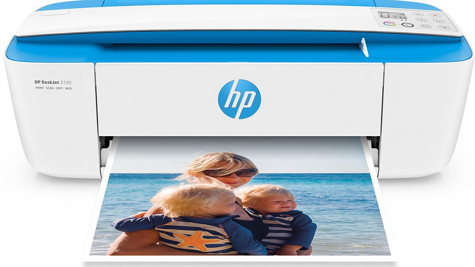 HP DeskJet 3720 All-in-One Printer - Electric Blue (J9V86A)