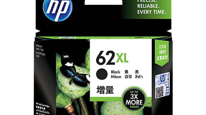 HP 62XL High Yield Black Original Ink Cartridge (C2P05AA)