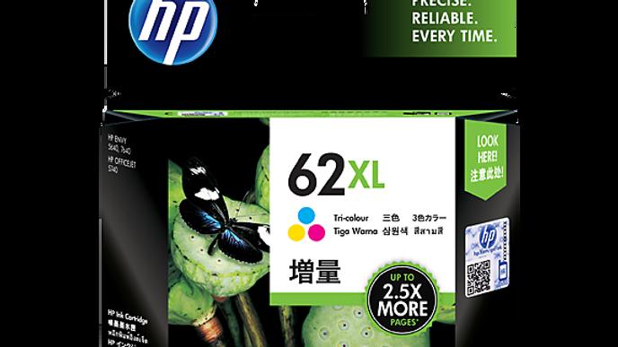 HP 62XL High Yield Tri-color Original Ink Cartridge (C2P07AA)