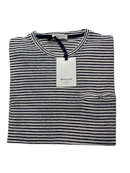 Wool & Co 6180 Shirt met Streep