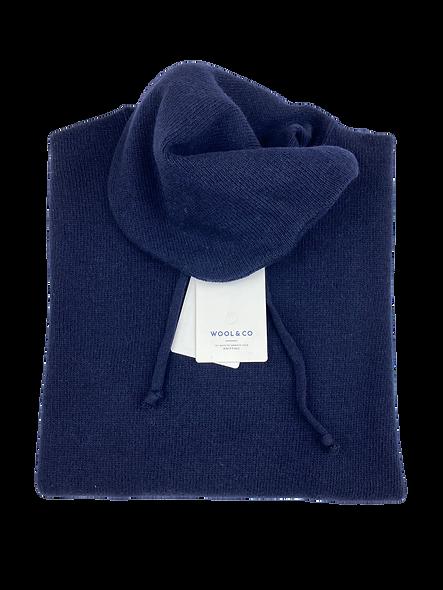 Wool & Co Hoodie Blue