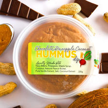 Chocolate Pineapple Coconut Hummus