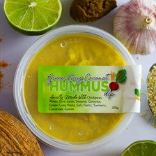 Green Curry Coconut Hummus