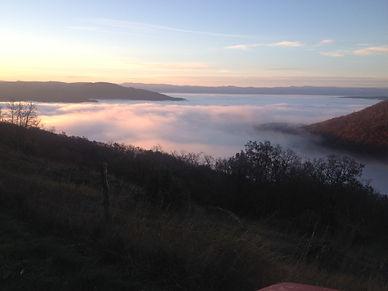 Mer de nuages un matin au dessus de Vispens