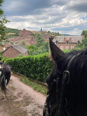 A cheval à St Izaire