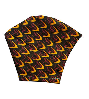 Red, gold, black100% cotton African wax print face mask with scale inspired pattern