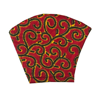 Red, black, gold 100% cotton African wax print face mask Gucci inspired pattern