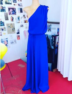 Dress silk royal blue