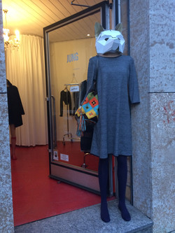 Dress Lena Wolle Lurex