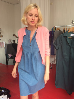 Dress Kerstin & Cashmere Cardigan