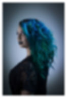 vivid color, hair, model, extensions, natural beaded rows, beauty, blue hair, northern colorado, loveland, fort collins