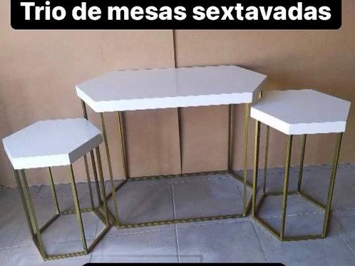 TRIO DE MESAS SEXTAVADAS