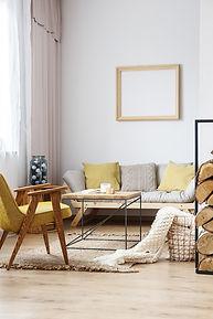 Salon design rustique