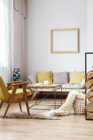 Sala de estar de design rústico