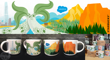 Licensed mug. Salesforce/Starbucks partnership