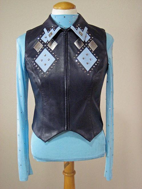 Hobby Horse Blk/Aqua/Silver Vest - Ladies S