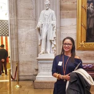 IVLP Dr Dunn at Abraham Lincoln Memorial