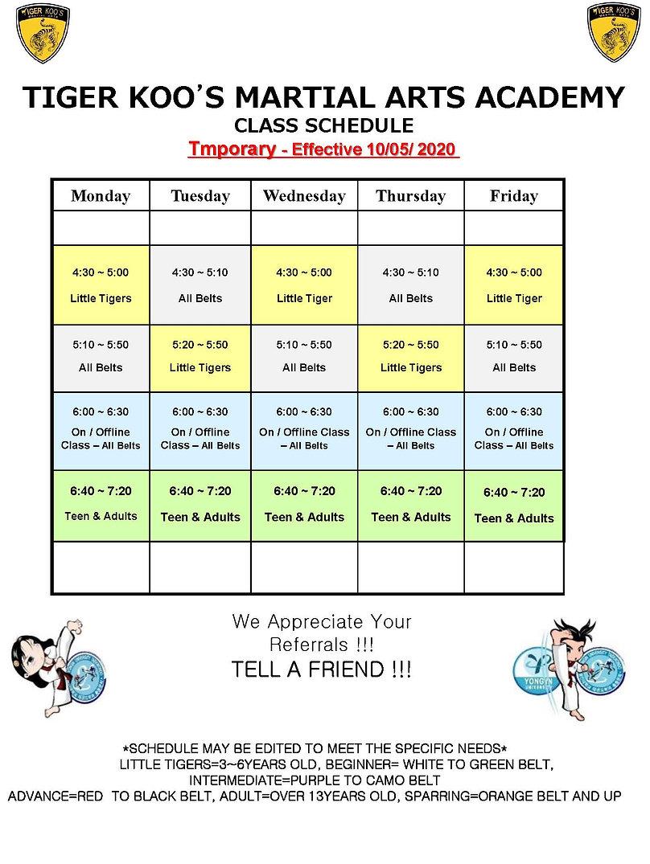 T1 Class Schedule October 5, 2020 2.jpg