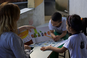 The Hungry Caterpillar - teaching in the favela