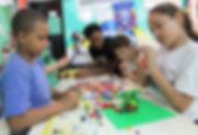 Lego donation in Rocinha