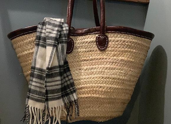 Large Leather Trimmed Market Bag