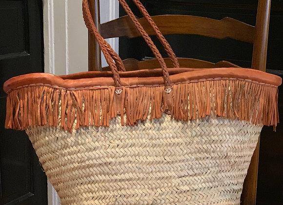 Leather Fringe Market Bag