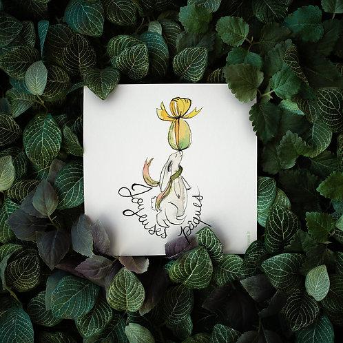 "Carte postale ""Joyeuses Pâques"""
