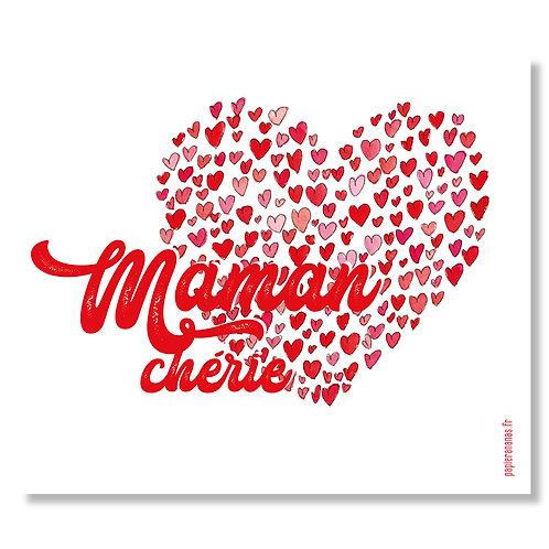 "Carte postale ""Maman Chérie"""