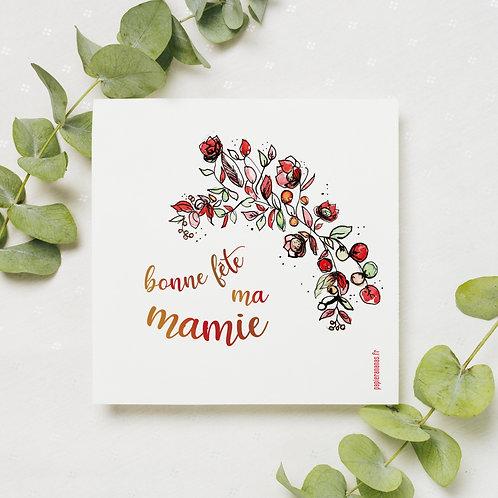 """Carte postale """"Bonne fête ma mamie"""""""